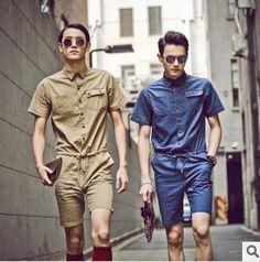 New 2014 jumpsuit overalls bodysuit men cotton linen army fashion brand romper military outdoors hip hop pants men everlast D356