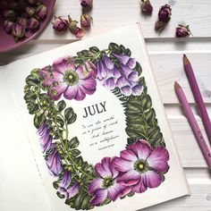 """341 Likes, 32 Comments - Irena (@black_aneri) on Instagram: """"Book : #thefloweryear by #leiladuly 💕 #hellojuly 🌞 #coloringbooks #colouringbookforadults…"""""""
