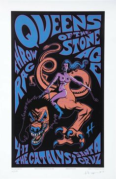 Queens Of The Stone Age concert poster, by Justin Hampton