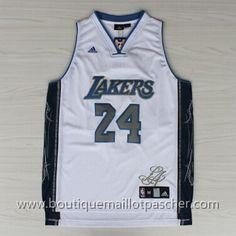 maillot nba pas cher Signatures Los Angeles Lakers Bryant #24 nouveaux tissu 22,99€