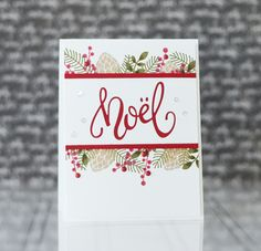 Wish your loved ones a Happy Noel this year with our beautiful Noel Script die from Taylored Expressions. We have a variety of holiday dies perfect for cards. Cas Christmas Cards, Holiday Cards, Christmas Diy, Elegant Christmas, Winter Cards, Christmas Greetings, Art And Craft, Paper Craft, Holiday Icon
