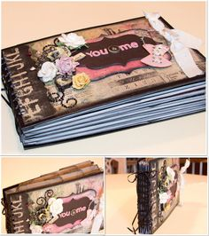Love You & Me interactive scrapbook made with Romance Novel Collection by Marion Smith and Prima
