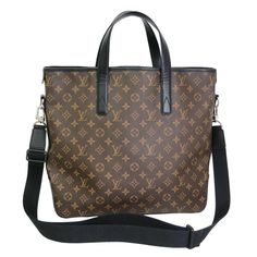 Louis Vuitton Monogram Macassar Kitan Shopper Shoulder Bag Tote | From a collection of rare vintage tote bags at https://www.1stdibs.com/fashion/handbags-purses-bags/tote-bags/