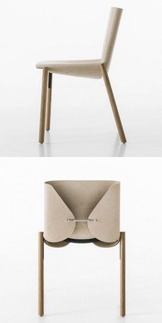 Tanned leather chair 1085 EDITION by Kristalia | Design Bartoli Design