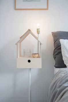 BEDROOM | Plywood Birdhouse Storage Light by Siebring & Zoetmulder via @cmoreinterieur