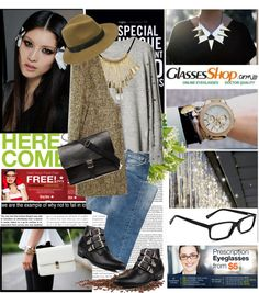 """""""GlassesShop"""" by spenderellastyle ❤ liked on Polyvore"""