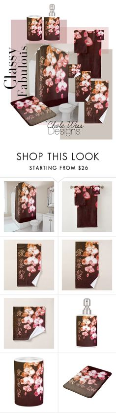 """""""Japanese Orchids by 'Chole Wess"""" by chole-wess on Polyvore featuring interior, interiors, interior design, home, home decor and interior decorating"""