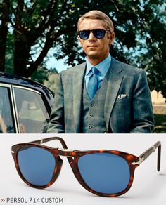 Steve McQueen in Persol 714 sunglasses