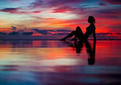 So beautiful. Look at all the colors in the sky, and the reflection puts an art to this photo Sunset Silhouette, Summer Dream, Personal Photo, The Great Outdoors, Art Photography, Sunrise, Scenery, Sky, In This Moment