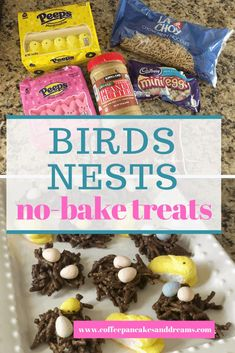 Recipe for an easy and delicious no bake Easter treat Birds Nests with Chow Mein Noodles, peanut butter and chocolate! Chow Mein Noodle Recipe, Easter Celebration, No Bake Treats, Noodle Recipes, Easter Treats, Nests, Chow Chow, Noodles, Pancakes
