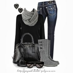 Black and Gray Winter Outfit