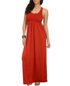 simple maxi dress $30 (also comes in black) - wetseal