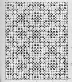 Crosses and Boxes Filet Crochet Pattern Filet Crochet Charts, C2c Crochet, Crochet Diagram, Tapestry Crochet, Knitting Charts, Thread Crochet, Knitting Stitches, Knitting Patterns, Crochet Table Runner Pattern