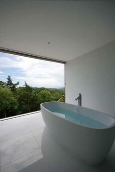 Zen Bathtub With A Beautiful View.