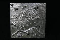 """Wanddeko - Metal Art Bild """"Kreatives Chaos"""" Aluminium Art, 3D - ein Designerstück von Angelas_Kreativwelt bei DaWanda"""