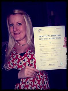 Catherine Edwards  Yet another first time pass, well done! 18/01/12                                                                                                            Catherine Edwards             by        Train2Drive      on        Flickr..