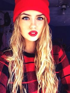 i love the hat :) :) her hair and gorgeous eyes are just fine