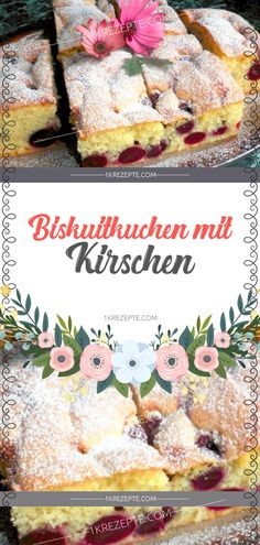 Biskuitkuchen mit Kirschen - 1k Rezepte