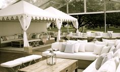 Beautiful luxury tented lounge bar setting by www.villakula.com.au