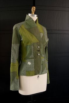 Taylor #Jacket in #Army #Green #Japanese #textile #vintage #slowfashion…