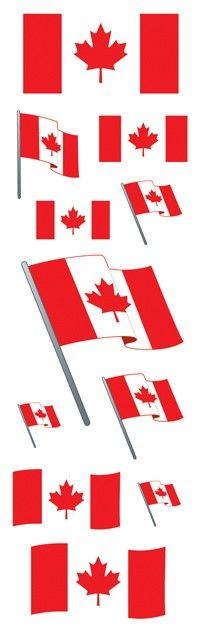 Canadian Flag - Slim Stickers