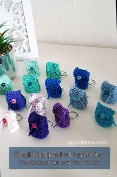 Crochet Diy, Crochet Simple, Easy Crochet Projects, Easy Crochet Patterns, Crochet Stitches, Crochet Hooks, Knitting Patterns, Crochet Key Chain, Small Crochet Gifts