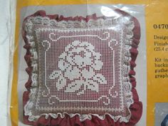 "Lace Net Darning Pillow KIT Rose Garden 0470 Vintage 10"" x 10"" Margery Young Free US Shipping JHFK"