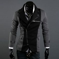 Casual dress jacket (casual? Ha!) I could never carry this off.. But me likey