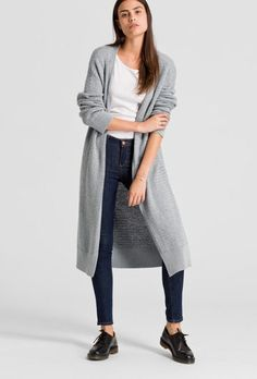 available in grey - Strick Cardigan Solid, Wool (kbT), Cotton (organic), Loose Cut, GOTS - sustainable materials and fair production Loose Fit, Villa, Normcore, Fashion, Clothing, Blue, Cotton, Moda, Fashion Styles