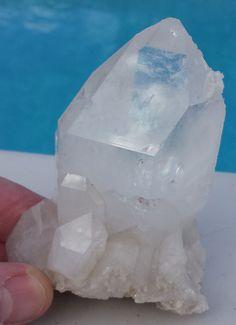 Crystal Quartz Point $17.60  #crystal #quartz #palmcrystal #healing #arizona #queencreek #santanvalley #myfavoriterock #crystals