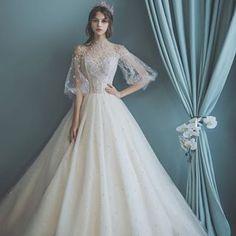 클라라 CLARA la perfection - Wedding Dresses and Bridal Dresses Wedding Dresses For Kids, Wedding Dress Trends, Dream Wedding Dresses, Bridal Dresses, Wedding Gowns, Renaissance Wedding Dresses, Wedding Dress Sleeves, Bridal Lehenga, Beautiful Gowns