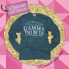 Gamma Phi Beta is 140 years strong, and this long sleeve tee is the perfect way to show that you're proud of that! Like and share for your chance to win the below shirt and all Crescent Corner #TrendyThursday items in January!