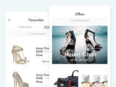 E-commerce fashion Aggregator app by Alexandr Ivchenko #Design Popular #Dribbble #shots