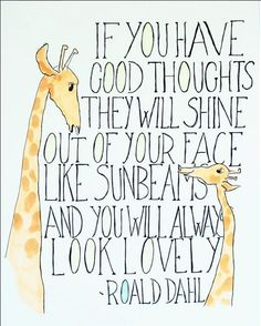 SunBeams...I miss reading Roald Dahl books. :)
