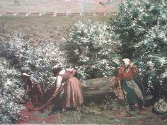 Possibly - Antonio Ferrigno? (Italian) 1903 A Florada (The Flowering) - oil on canvas
