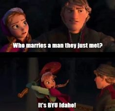 Hahaha, BYU Idaho joke couldn't decide between Mormon or Disney board Funny Church Memes, Funny Mormon Memes, Church Jokes, Lds Memes, Lds Church, Funny Quotes, Morman Memes, Saints Memes, I Love To Laugh