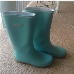 Tretorn Tiffany Blue Rain Boots Size 9 Brand New Tretorn Tiffany Blue Rain Boots Size 9 Tretorn Shoes Winter & Rain Boots