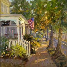 "Sara Linda Poly: ""Small Town Magic"" Troika Fine Art Gallery Award, Best Painting by a Maryland Artist"