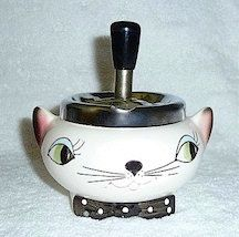 I HAVE THIS...Holt Howard Cozy Kitten 1950s Cat Ashtray MEOWS Pixieware Tobacco