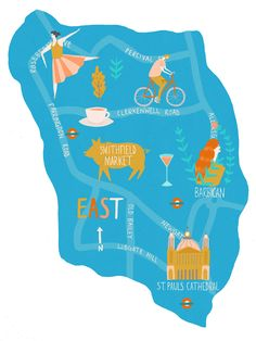 London Graphic Designed Map