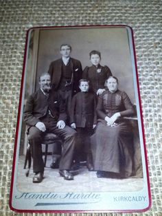 Beautiful old photo CDV family grouping