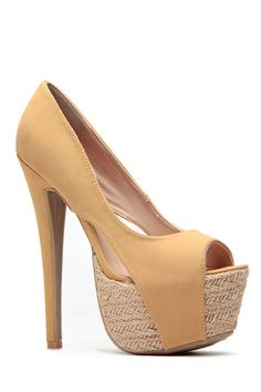 1883d5579e57 Camel Peep Toe Espadrille Pumps Peep Toe Espadrilles, High Heel Pumps, Stiletto  Heels,