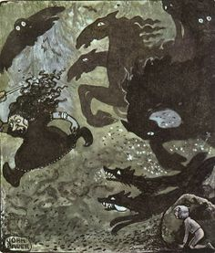 John Bauer - Nordic Myth and Fairytale Art and Illustration John Bauer, The Witcher, Yule Goat, Fairytale Art, Beautiful Fairies, Watercolor And Ink, Faeries, Fantasy Art, Illustration Art