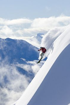 Whistler Heli-Skiing, British Columbia... I might practice a bit more on mannings green runs first.