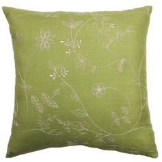 Simple design and beautiful color combine to make the Rose Tree Belclaire 18-inch Embroidered Pillow the perfect addition to any space. This pillow features a removable cover for easy and convenient upkeep.