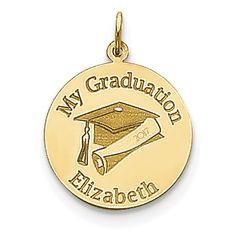 14k Personalized Graduation Charm XNA361Y