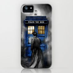 Tardis Doctor Who With David tennant In The Cloud iPhone & iPod Case by pointsalestore - $35.00