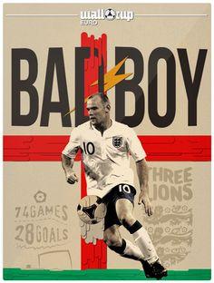 Bad boy wayne rooney Superstar Football, Football Icon, Football Art, Vintage Football, England National Football Team, England Football, Soccer World, World Football, Rugby