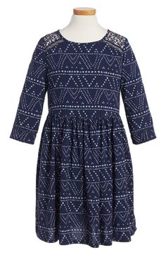 Tucker + Tate Lace Trim Fit & Flare Dress (Big Girls) available at #Nordstrom