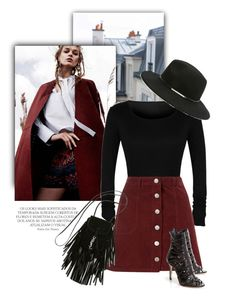 """Effortlessly Chic"" by luvsassyselfie ❤ liked on Polyvore featuring moda, Miss Selfridge, Yves Saint Laurent, Forever 21, black y burgundy"